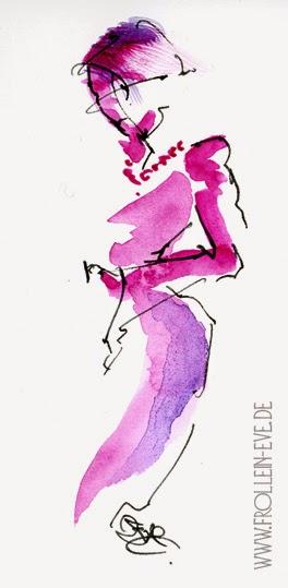 Frollein Eve Modegrafiken Pink